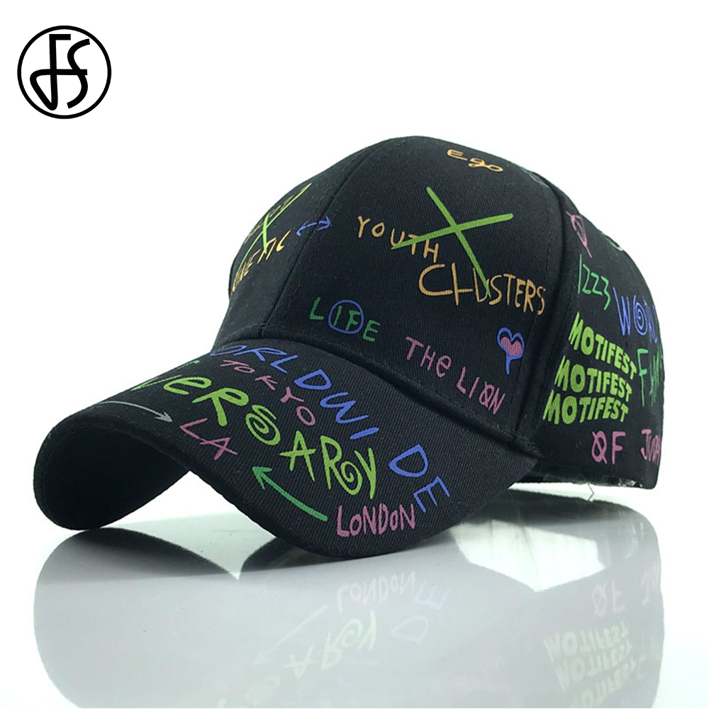 6a55635d96d0dc FS Korean Style Snapback Sport Hip Hop Ball Hat Letter Print White Fashion  Outdoor Face Cap
