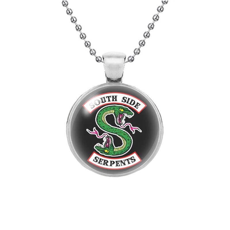 Новая мода ривердейл Цепочки и ожерелья ПЕРСОНАЛИЗИРОВАННЫЕ стеклянный кабошон длинной цепи пара ожерелья, подвески женские Для мужчин ювелирные изделия