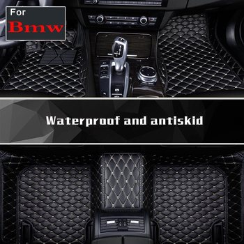 Car Floor Mats Leather Car Carpets Pu Leather Floor Pads For Bmw 1li X6 Z4 6gt M1 M3 M5 X5m X6m M4 Bx7 Bx5