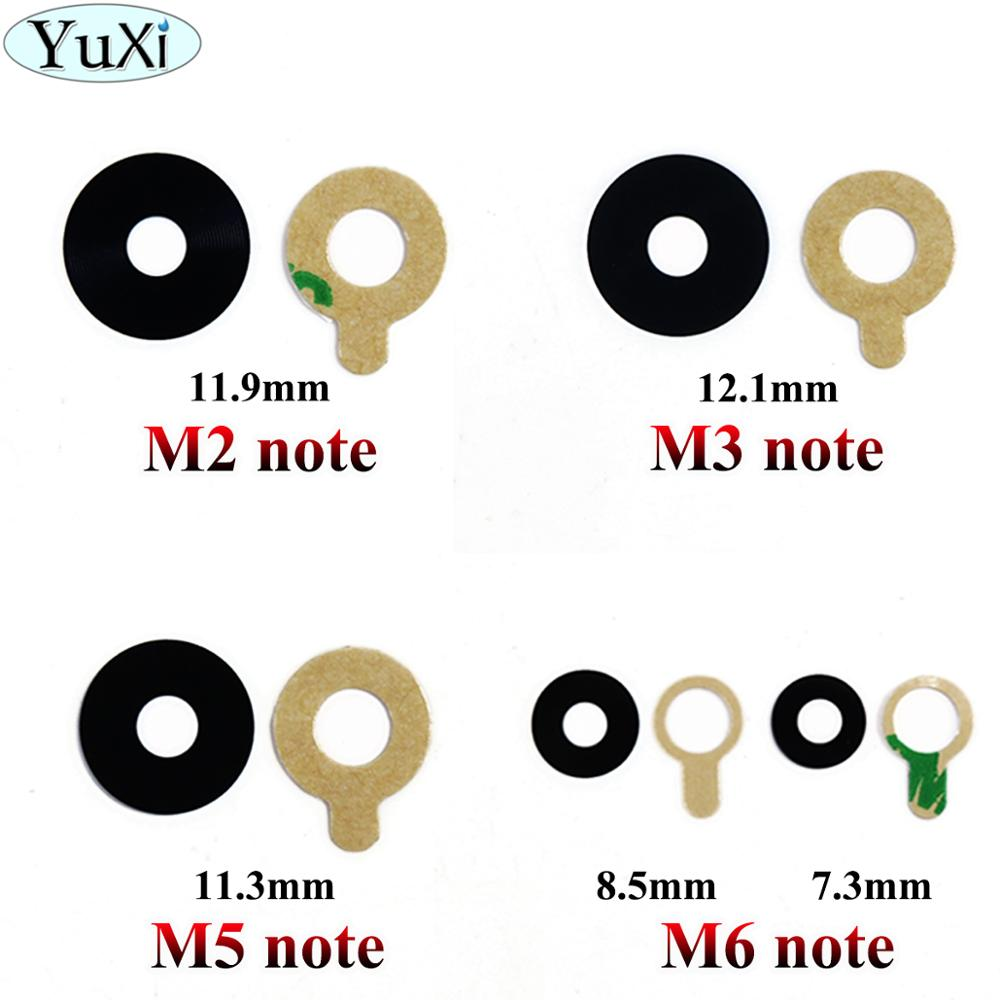YuXi 2X For Meizu Meilan M2 M3 M5 M6 Note Camera Glass Lens Back Rear Camera Glass Lens With Glue Replacement Repair Spare Parts