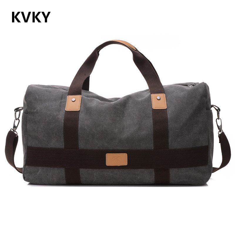 2017 New Retro Men Canvas Handbag High Quality Travel Bag Large Capacity Women Luggage Travel Bag Folding Bag Bolsas Zipper