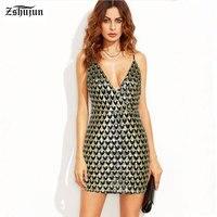 Spot groothandel Vrouwen Lovertjekleding Diepe V kraag Strapless Sling Sexy jurk Mooie Strakke Vrouwen feestjurk Jupe A2056
