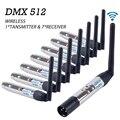 DMX512 Senza Fili Trasmettitore Ricevitore Regolatore di Illuminazione 2.4G ISM Distanza di Comunicazione 300 M per la Fase PAR Illuminazione Del Partito DMX