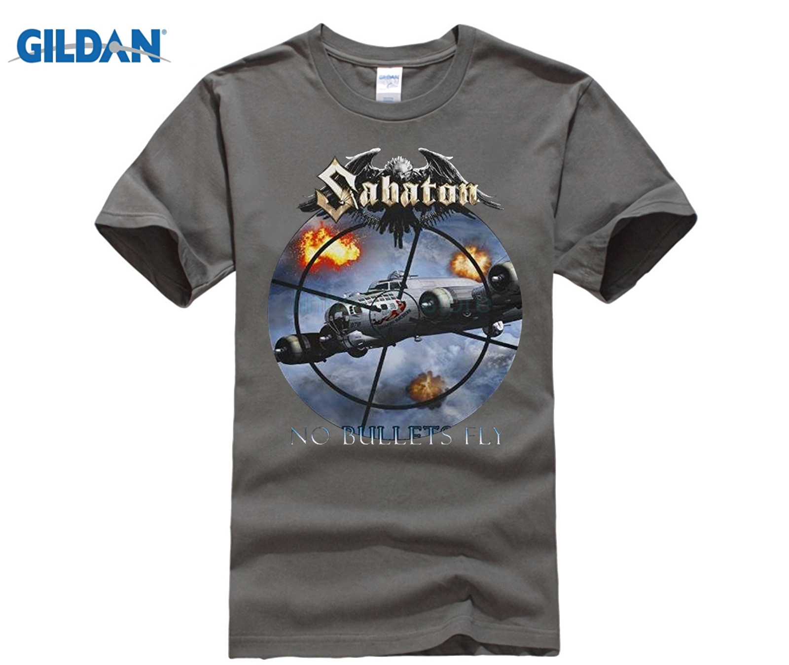 Gildan T Shirt Design Template Crew Neck Men Short Gift Sabaton No