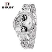 BELBI Watch 2018 Horloges Vrouwen Women Quartz Watches Rhinestone Stainless Steel Strap Bracelet Watches Horas