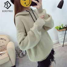 2019Autumn Korean student sweater pullover female hooded sweater bat sleeve shirt sweater jacket short tide C97707D