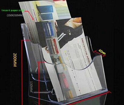 clear 4pcs a5 2 tiers pocket plastic brochure literature display