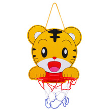 Indoor Adjustable Hanging Basketball Netball Hoop Portable Plastic Mini Basketball Box with Ball Children Kids Game