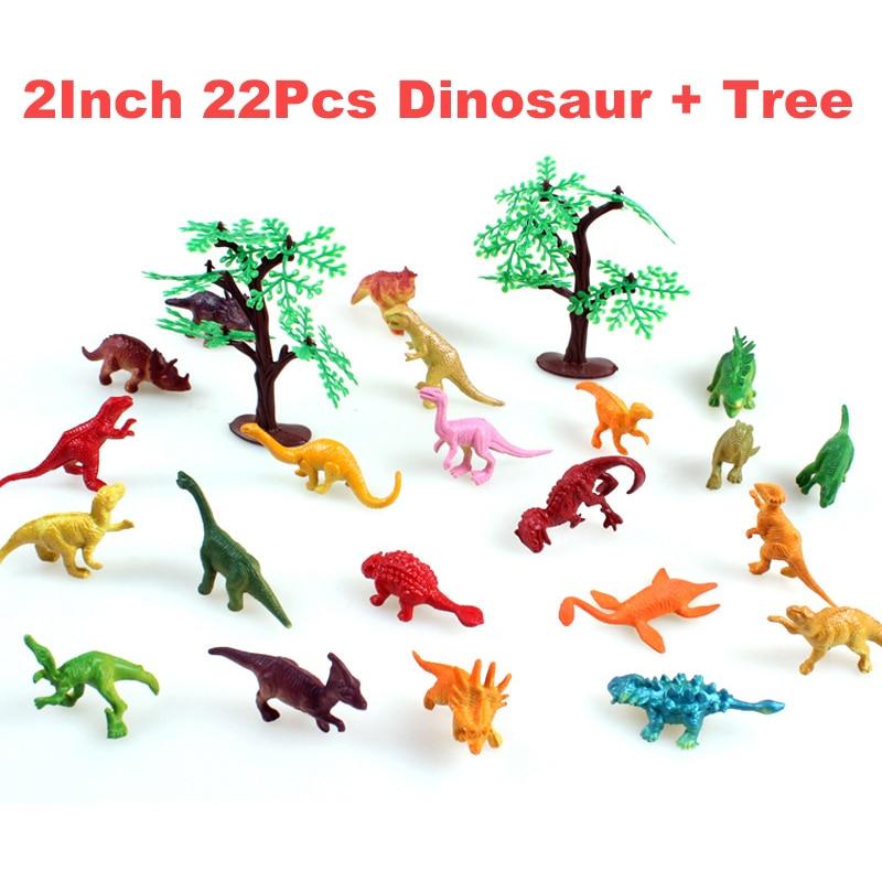 22Pcs Anime Hot Dinosaur Toy Mini Rubber Toys Dragon ...