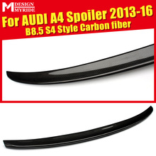 For Audi A4 A4A A4Q High-quality Carbon Rear Spoiler B8.5 S4 Style Coupe Fiber Tail Trunk Wing 2013-16