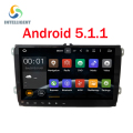 "9 ""Android 5.1 HD 1024*600 tela Quad core 2 DIN VW rádio do carro para Seat Leon Altea VW Golf TiguanSkoda Fabia Rápida sem DVD player"