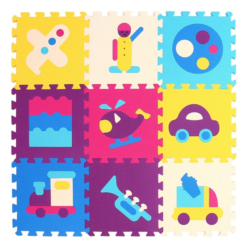 HTB1UluRgnqWBKNjSZFAq6ynSpXaS mei qi cool 9pcs/set baby play EVA foam puzzle mat /Cartoon EVA foam pad / Interlocking Mats for kids playmat