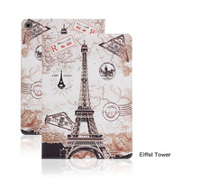 Tablet Protective Cases Painted  Flip smart stand TPU leather case for ipad mini 1 2 3 animals kitty Fairy forest Eiffel tower carprie smart stand eiffel tower flip leather cover case for ipad mini retina mar2 motherlander