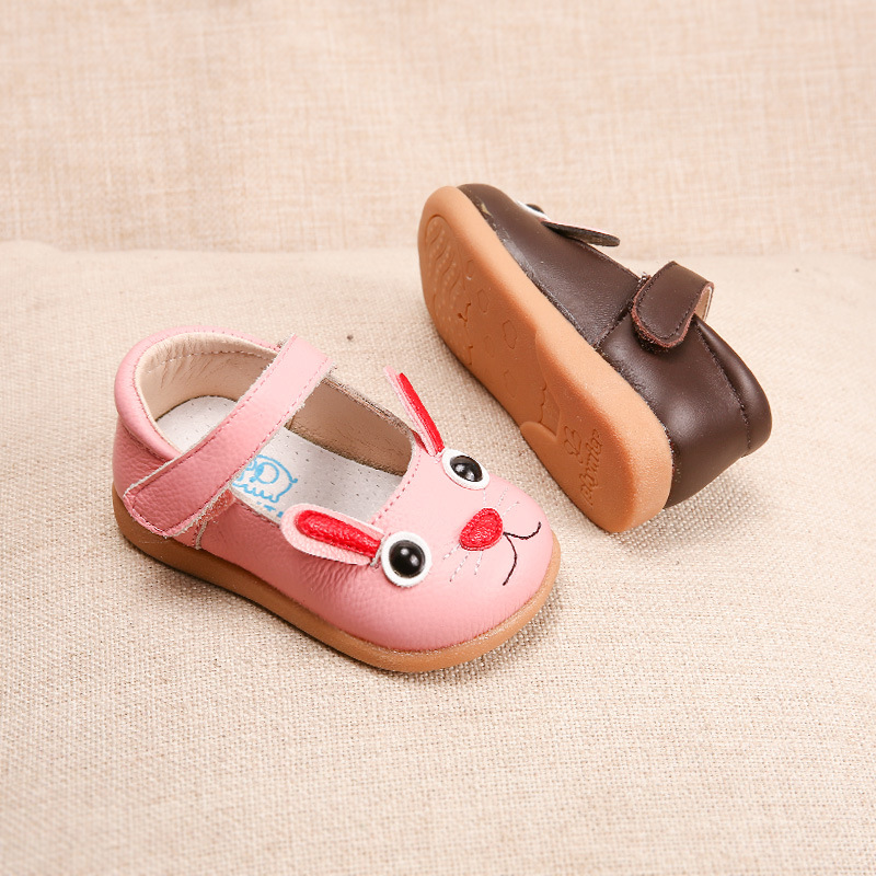 Genuine Leather Girls Shoes cartoon Baby Toddler Shoes Princess 1-3-5 Years 2018 Spring New Children Leather Shoes Kids