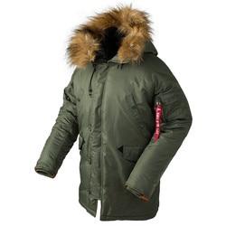 2019 invierno N3B puffer chaqueta hombres largo Canadá abrigo militar de piel capucha cálido trench camuflaje táctico bombardero ejército abrigo coreano