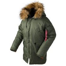 2020 Winter N3B Puffer Jas Mannen Lange Canada Jas Militaire Bontkap Warm Geul Camouflage Tactische Bomber Army Koreaanse Parka