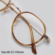 Acetate Vintage Round Glasses Frame Men Women Metal Retro Clear Optical Eyeglasses Myopia Prescription Spectacle Frames Eyewear спортивные комплексы dfc детский комплекс с батутом и баскетбольным кольцом mtb 01