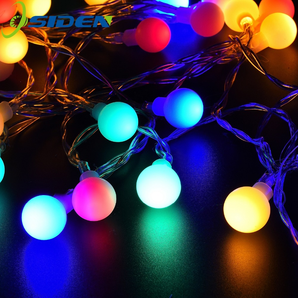 3XAA Battery Ball Powered Led Globe String Light 2M 5M 10M led Outdoor decorazione del partito di Natale GardenHoliday lighting
