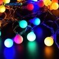 Строки глобуса СИД светильник 3XAA Батарея Бал солнечных батареях 2 м 5 м 10 м напольный вечерние украшения Рождественские GardenHoliday светильник И...