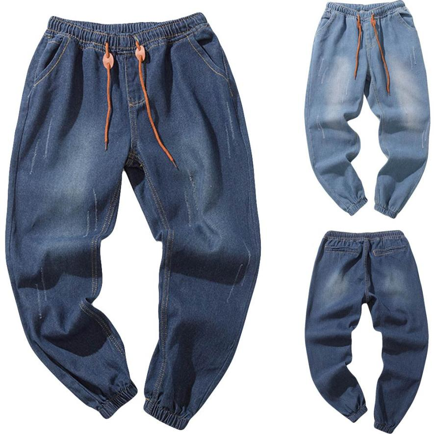 WOMAIL Trousers Men Big Sizes Casual Autumn Fashion Denim Cotton Vintage Denim Pants Men Work Trousers Jeans Drop Ship 18Aug13