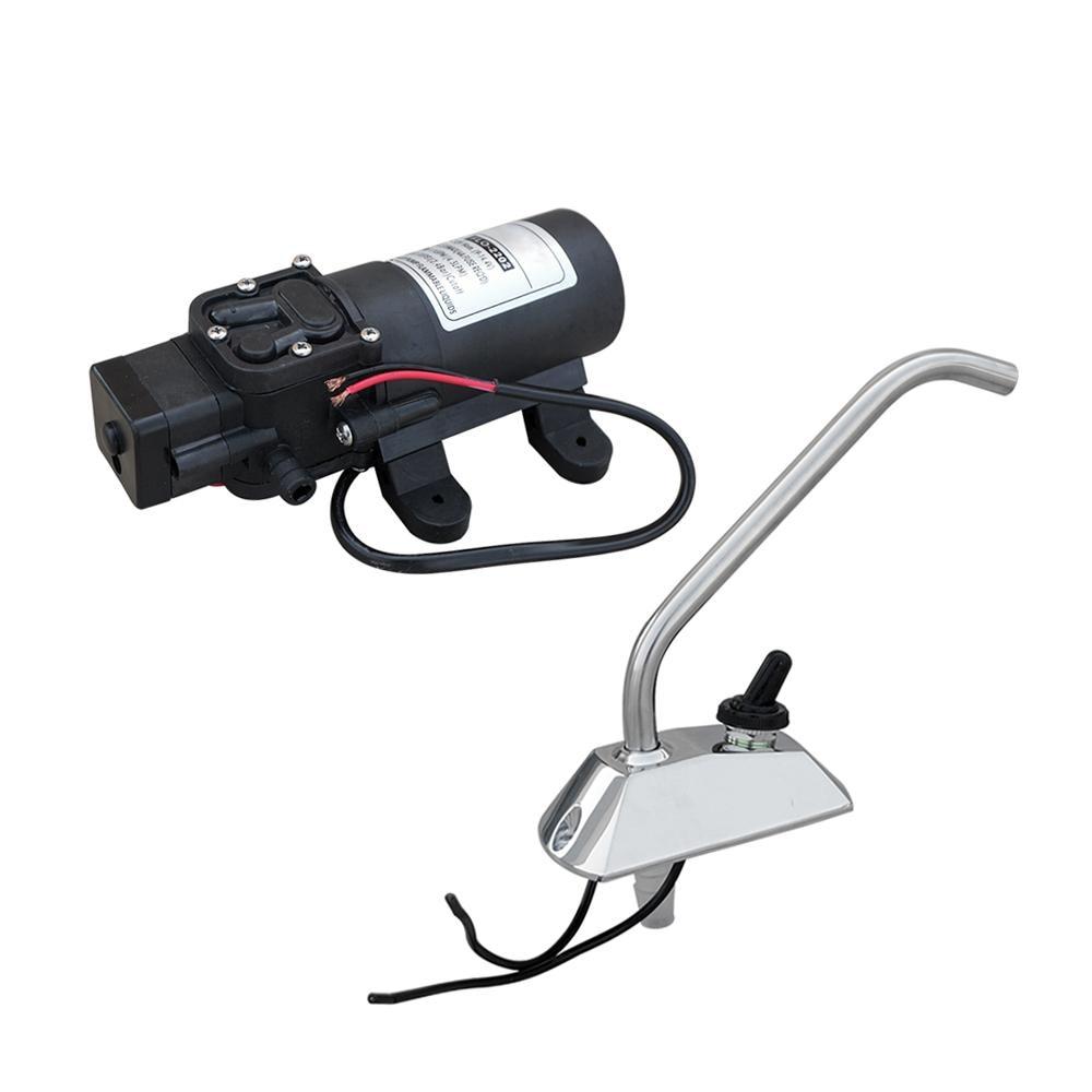 12V Diaphragm Water Pump Faucet 1.2GPM Self priming RV Boat Water ...