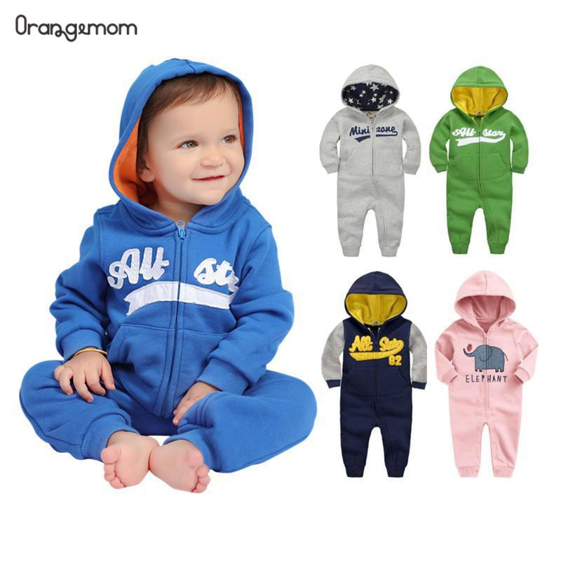 2019 spring Baby rompers Newborn Cotton tracksuit Clothing Baby Long Sleeve hoodies Infant Boys Girls jumpsuit Innrech Market.com