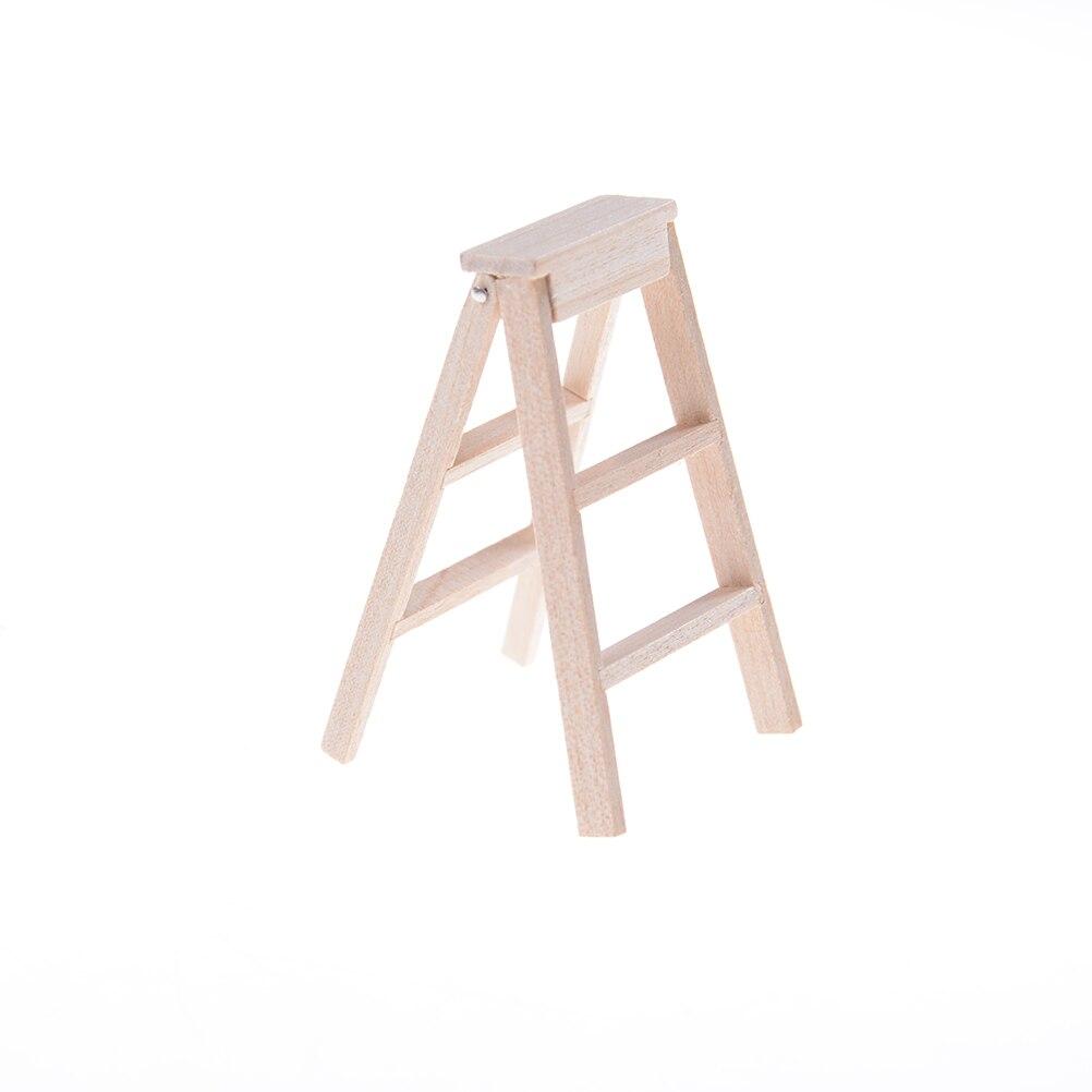 "Miniature Dollhouse 6/"" Wooden Ladder"