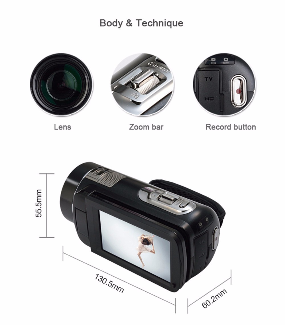 Marvie Free Shipping 10x Optical Zoom HD Digital 1080P FHD Video Camera Camcorder Night Vision 1X Digital Zoom Remote Control 11