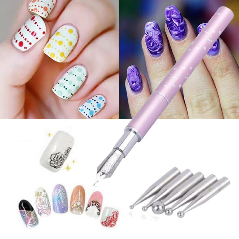 1PCS UV Gel Design Painting Pen Nail Art Brush Set for Salon ...