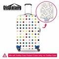 Dispalang colorido de bolinhas protetor esteticista para mala de viagem do trole da bagagem personalizado tampa mala de viagem à prova d' água