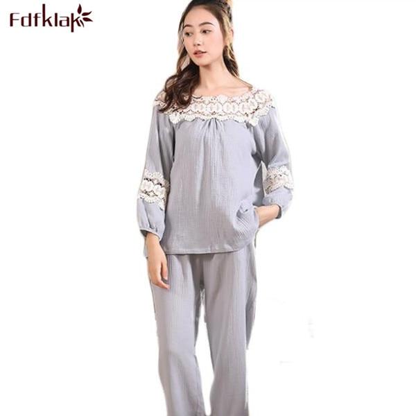 Fdfklak High Quality Lady Sexy Sleepwear Autumn Long Sleeve Cotton Sleeping  Clothes Women Pijama Set Pyjama Women Pajamas Q465 e537114ee