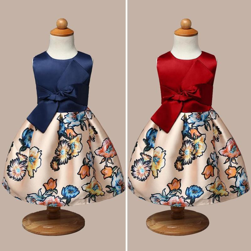 Подробнее о Girl Dress Princess Costume Children party Christmas Dresses Kids Clothes Rose Flower Red/blue Dress, dress for girls R2-16H 2016 baby girl christmas costumes flower collar princess dress evening party kids dresses for girls children clothes age 2 10