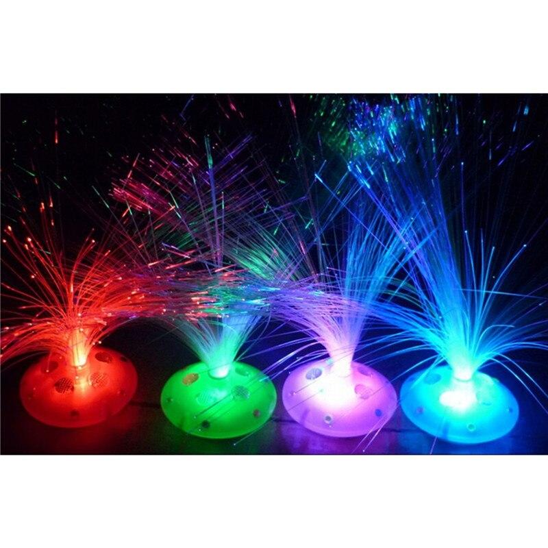 1PC Cool LED Color Changing Fiber Optic Night Light Lamp