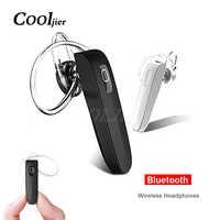 COOLJIER stéréo affaires écouteur sans fil bluetooth casque sport mains libres casque avec micro pour iPhone X écouteur