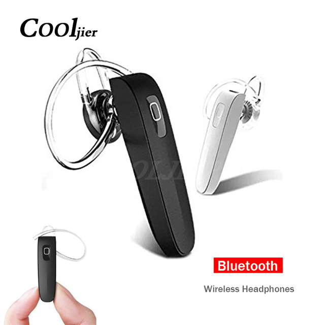 COOLJIER Stereo Business Earphone Wireless bluetooth headset Sports Hands-free headphones WIth Mic For iPhone X earpiece