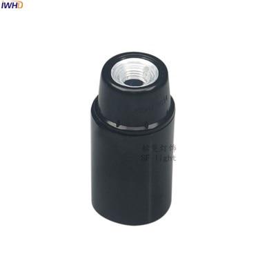 IWHD Пластик фитинг Soquete E27 держатель лампы для стол подвесной светильник 110-220V Douille E27 E14 гнездо Ретро Винтаж UL CE - Цвет: E14