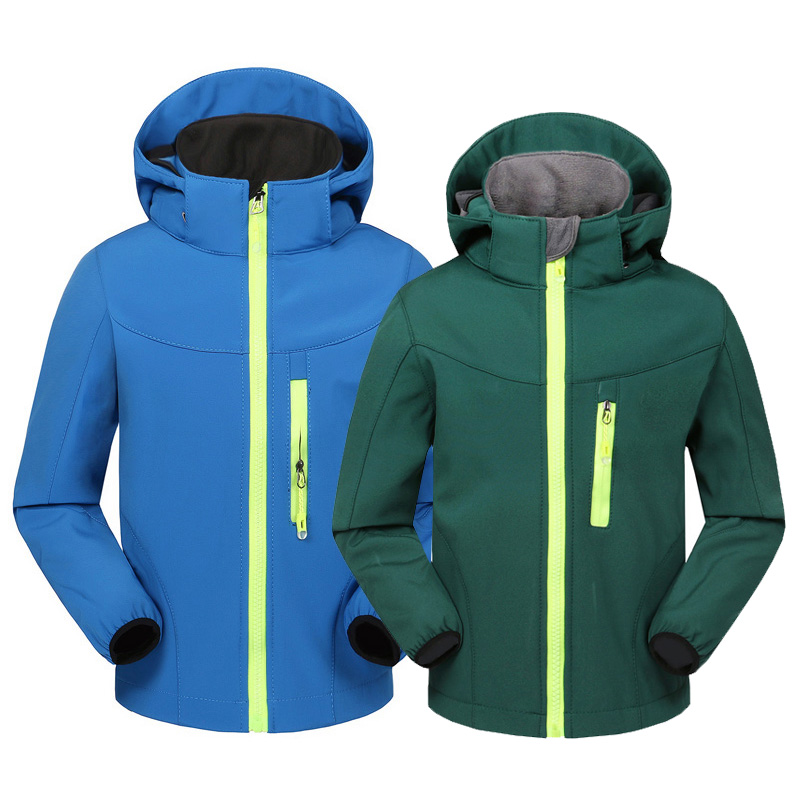 2019 Spring Outdoor Sports Children Soft shell Jacket Windproof Thermal Boys Girls Skiing Camping Hiking Waterproof Rainco
