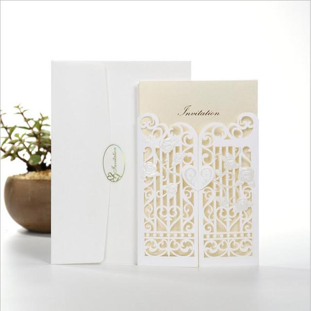 50 sets laser cut wedding invitations cards greeting cards pop up