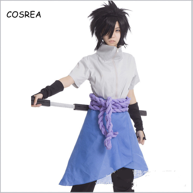Anime Action Figure Naruto Cosplay Costumes Uchiha Sasuke Naruto Clothes Top Pant Suit Sport Clothing Set Women Outfit for Man