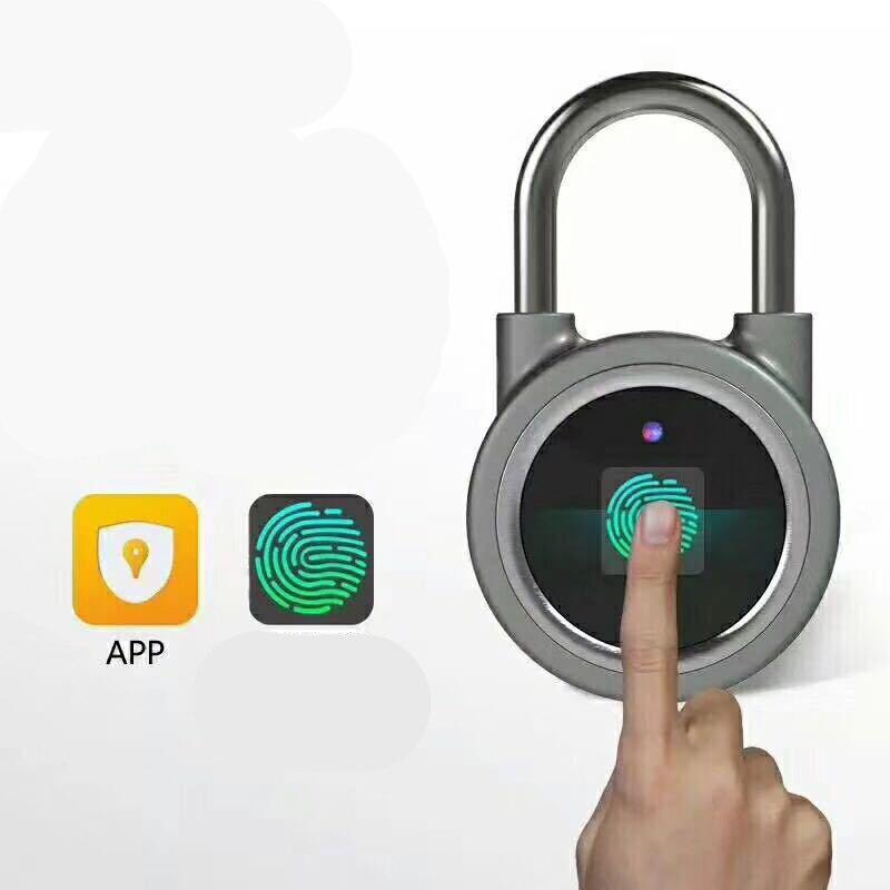 Fingerprint Padlock Smart Bluetooth Electronic Lock Warehouse Door Security Door Lock Outdoor Padlock Luggage Lock