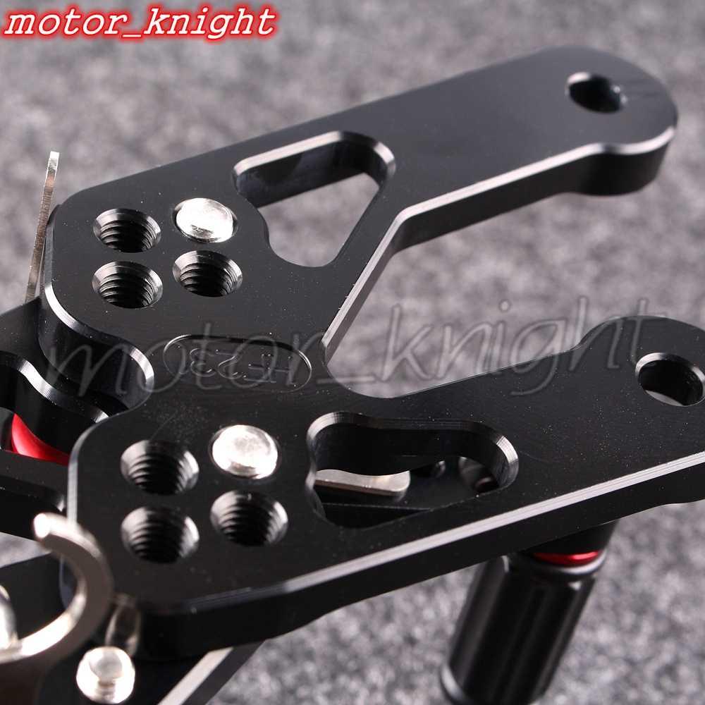 Motorcycle achteren geplaatste zwarte achter stelt voetsteunen verstelbare voor honda 2004-2007 cbr1000rr 2003-2006 cbr600rr