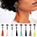 Разноцветные цветочные женские серьги-кисточки в стиле бохо с длинной нитью в стиле ретро ручная работа серьги-капли za для женщин 3I3008