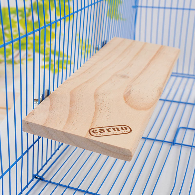 32*14cm Small Animal Rectangle Wooden Totoro Hamster Squirral Platform Natural Wooden Board Fixed Cage Nest jumping Climbing Toy