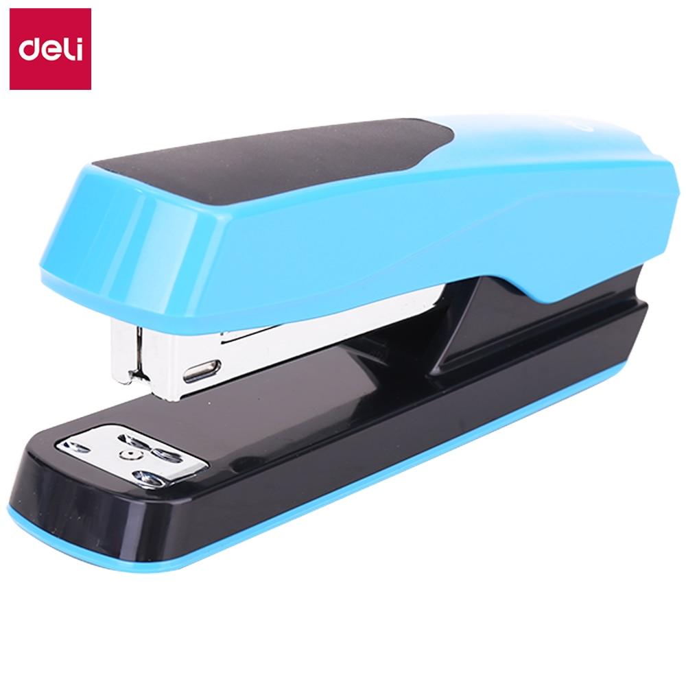 DELI Stapler 24/6 26/6 Deli 0427 Half Strip Stapler Stationery Office Supply Staples Office Accessories