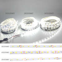 2018 NEW 2835/5050/5630 White / Warm white LED Strip 5M 60Leds/M 300Led SMD RGB Lamps DC12V flexible light Tape Ribbon Ledstrip