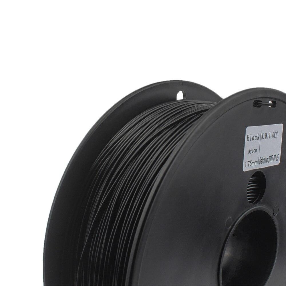 Filamenti di NYLON 1.75mm wimpel c 0.03mm scelta 3d di nylon nero di colore bianco 3d filamento di nylon PA 1 kg filo stampante 3d filamento