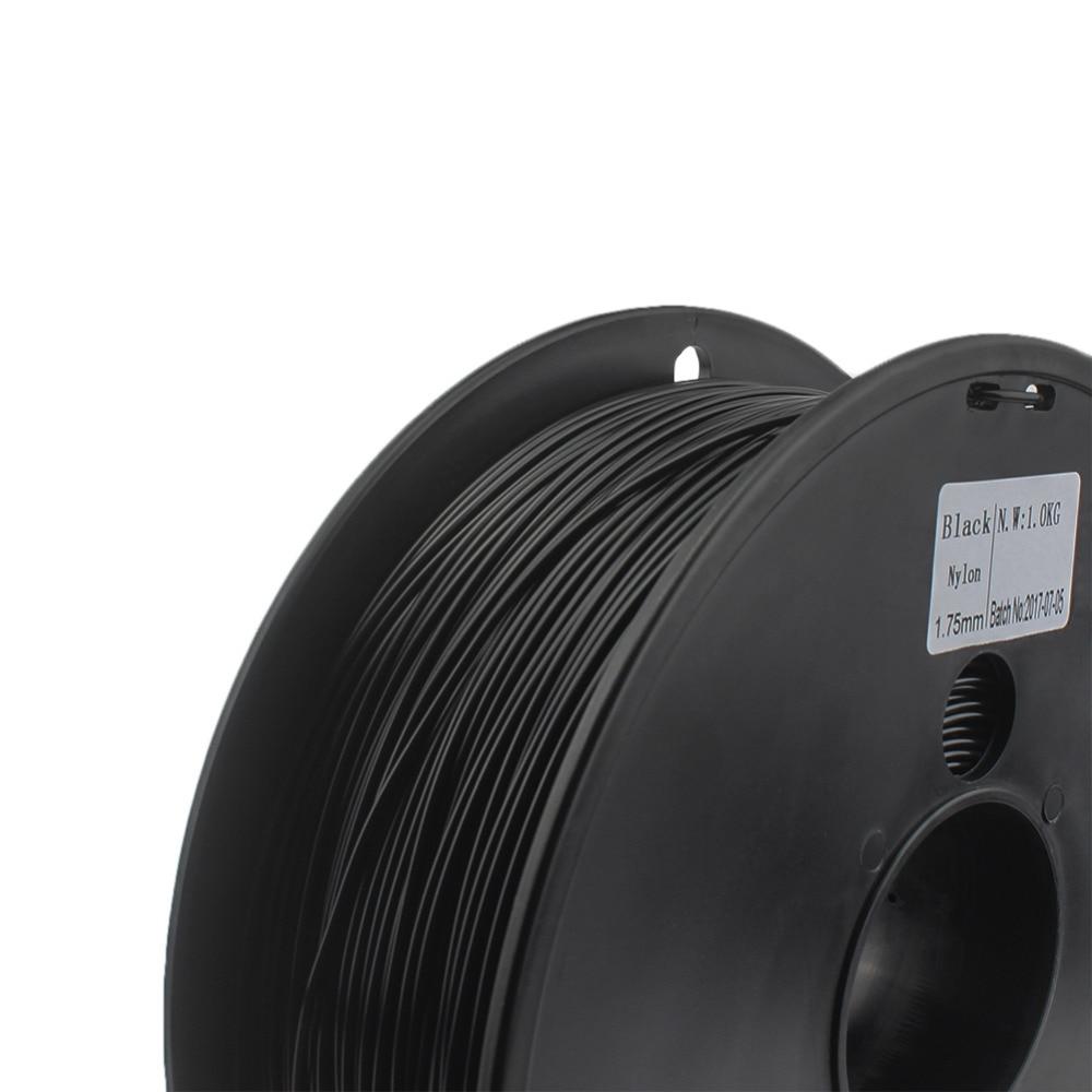 Нейлоновая нить 1,75 мм wimpel c 0,03 мм на выбор, нейлоновая 3D-Нить черного и белого цвета, нейлоновая нить PA 1 кг filo stampante 3d filamento