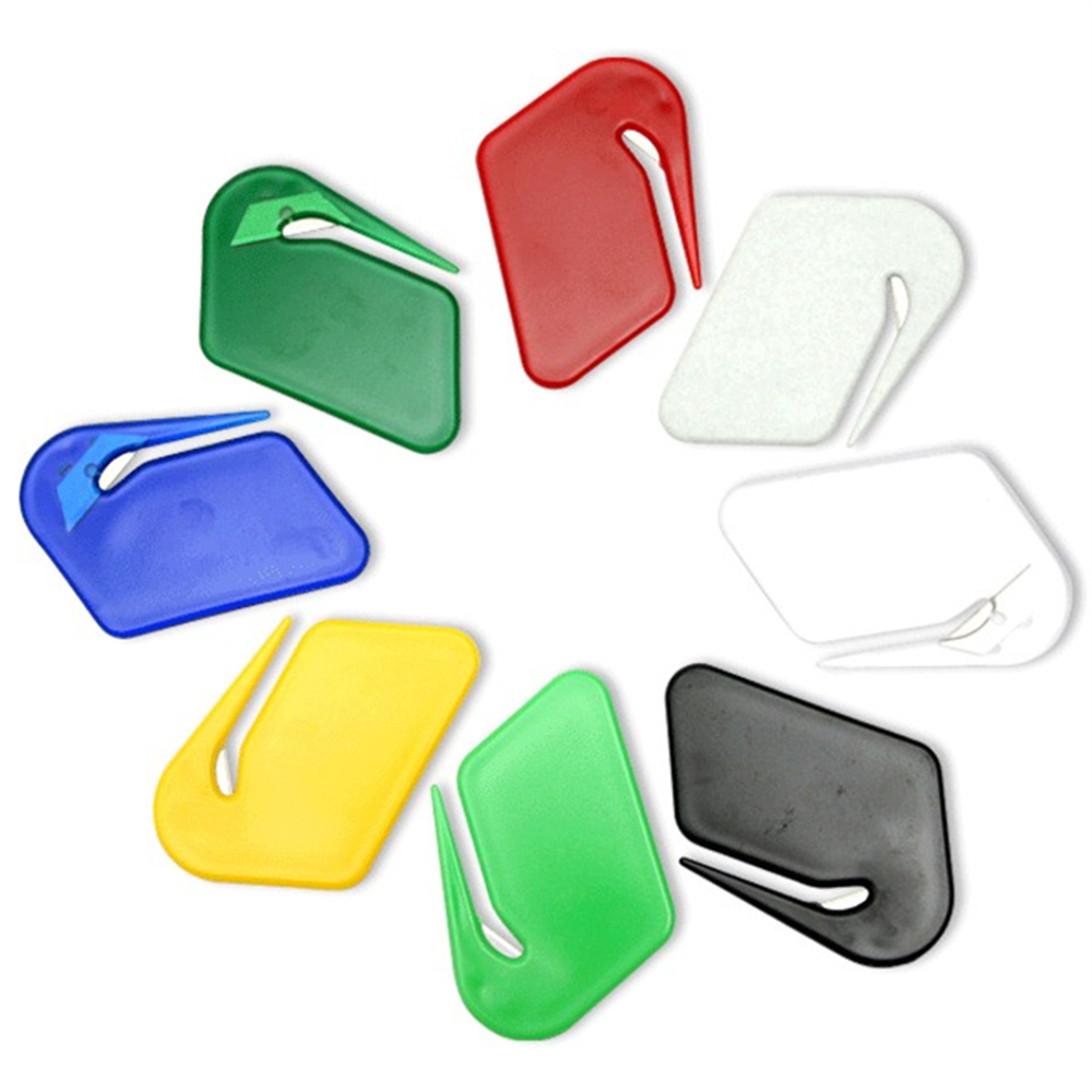 10pcs/lot  Sharp Mail Envelope Plastic Letter Opener Office Equipment Safe Paper Guarded
