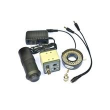 Wholesale prices 1200TVL BNC Digital Industrial Microscope Camera 100X Zoom C-mount Lens 40 LED Ring Light Sony Sensor