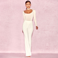 NEONICE winter Jumpsuits stretch tight bandage triangle club sexy